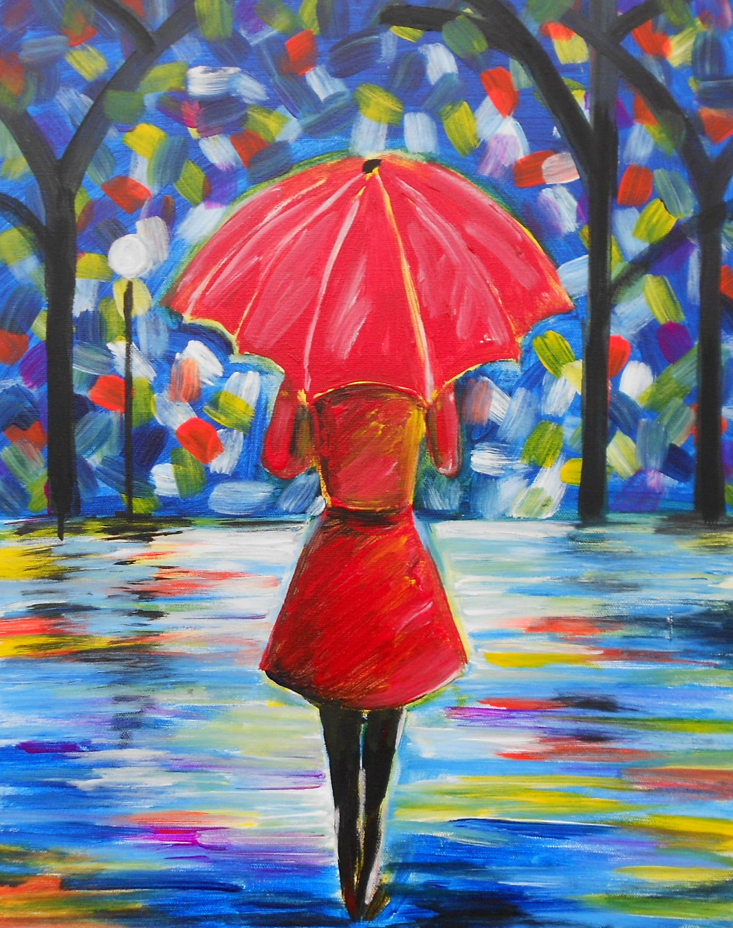 A walk in the rain pinot 39 s palette painting for Paint night home parties
