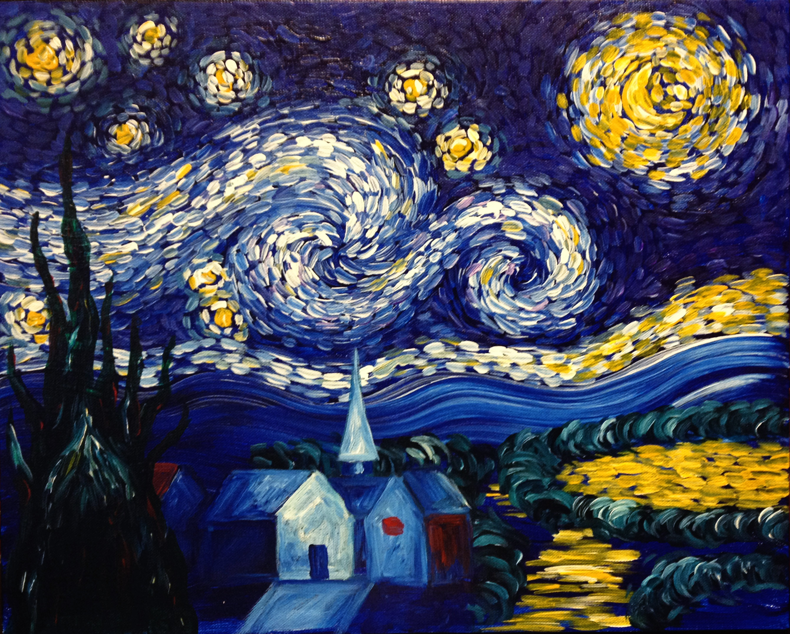 Van gogh 39 s starry night pinot 39 s palette painting for Van gogh paintings locations